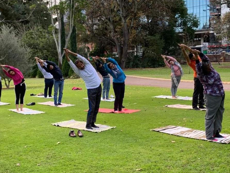International Yoga Day 2020 Celebrations at the Government House, Perth!